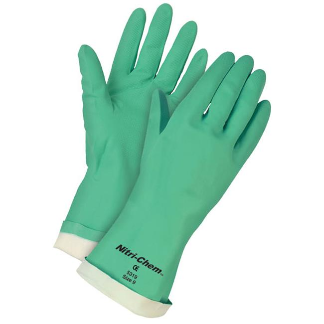 mcr 127-5320 nitri-chem green nitrile flock lined, glove, xxl