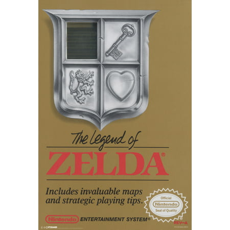 The Legend Of Zelda Super Ninetendo Nes Game Boy Ds 3Ds Wii Vintage Box Art Print Poster   12X18