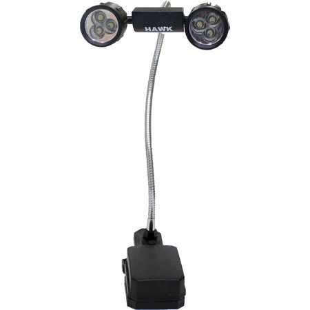 Adjustable Clip-On Work Lamp - Twin 3-LED Rotating Lights & Bendable Neck  (FAROL: FL-18176) ()
