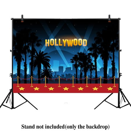 GreenDecor Polyster 7x5ft photography backdrop Hollywood night Movie Premiere birthday Adult party banner red carpet background props photo studio booth