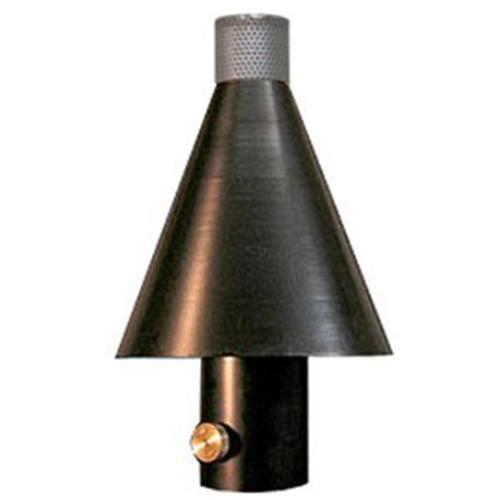 Outdoor Fire Concepts TBCH-NG Tiki Black Cone Head Only Natural Gas 12 Gauge Spun Aluminum