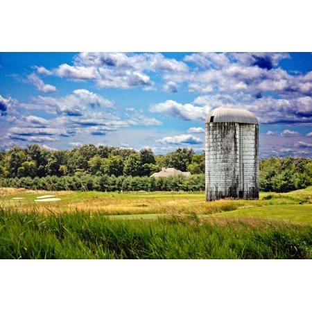 Golf Course and Silo Upstate NY Print Wall Art