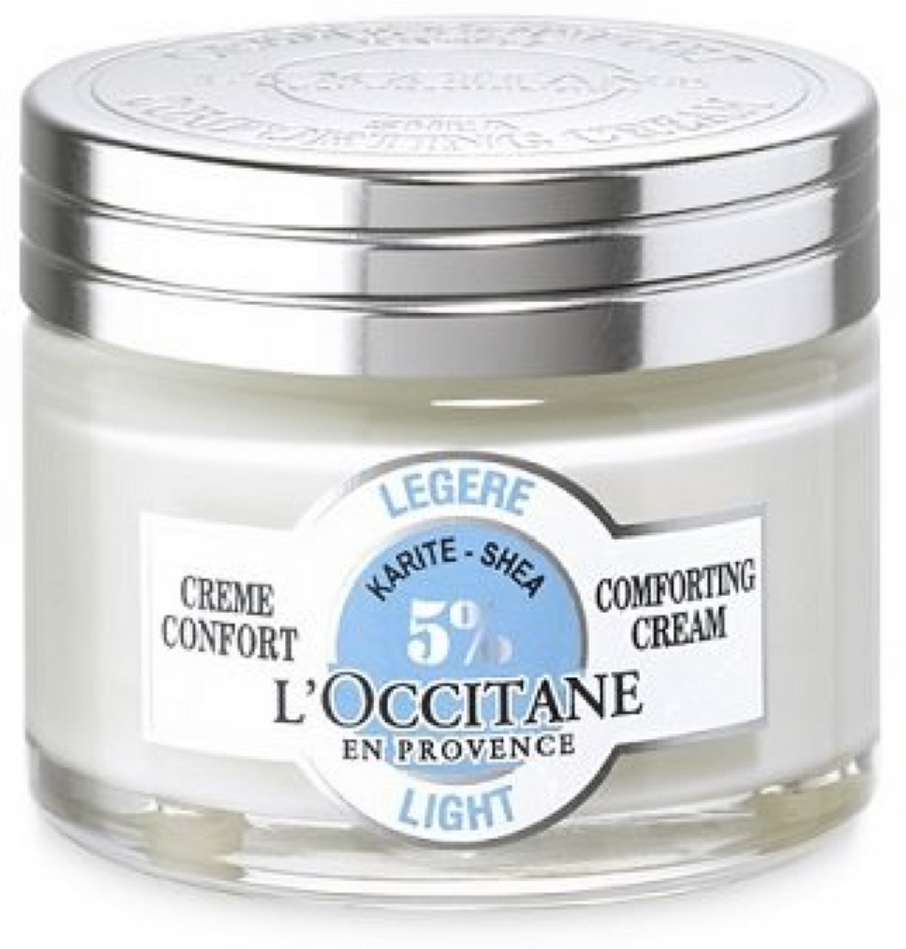 2 Pack - L'Occitane Light 5% Shea Butter Face Cream for Normal to Combination Skin 1.7 oz