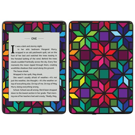 Skin for Amazon Kindle Paperwhite 2018 (waterproof model) - Stained Glass Window | Protective, Durable, and Unique Vinyl Decal wrap cover | Easy To Apply, (Removing Hard Water Stains From Window Glass)