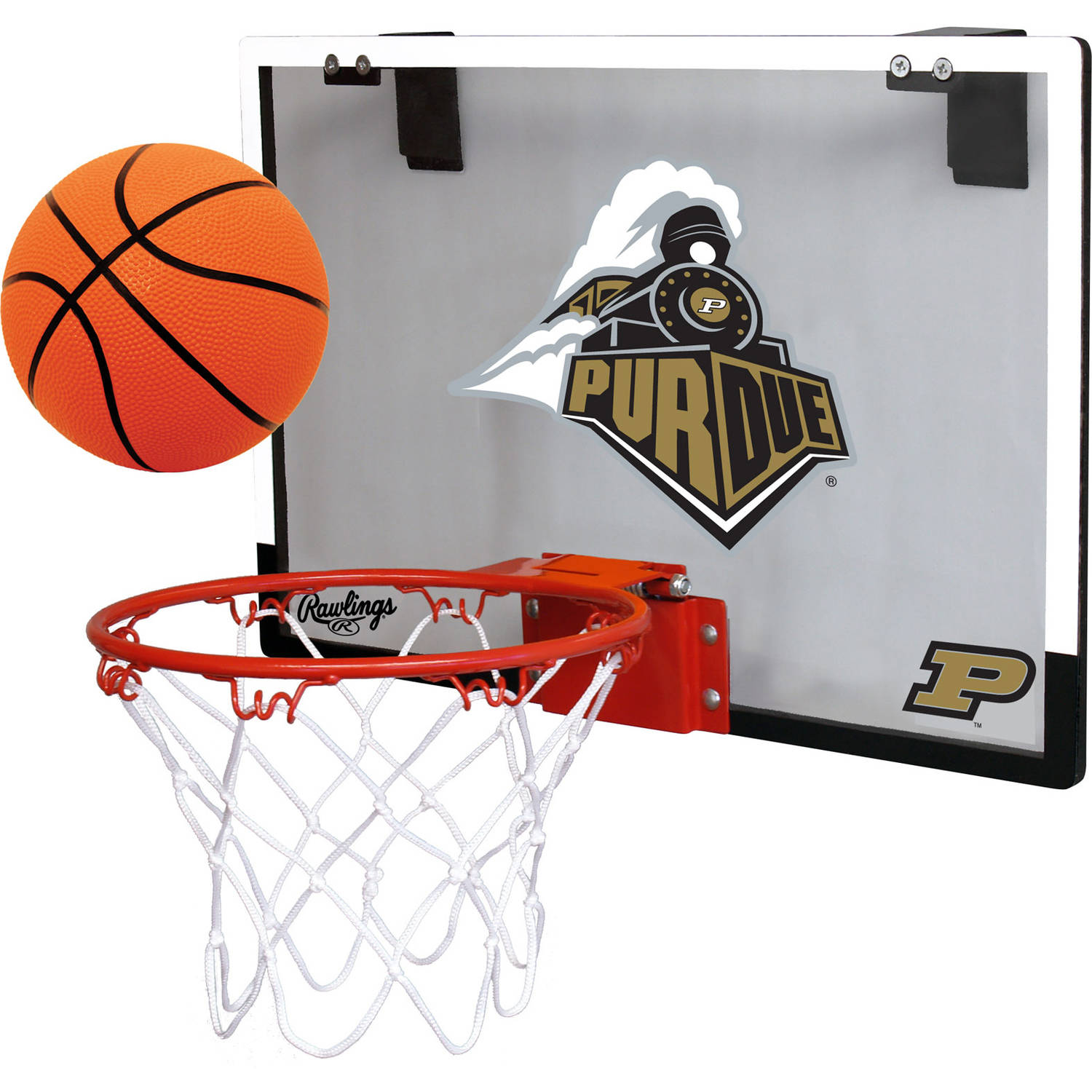 Rawlings NCAA Polycarbonate Hoop Set Purdue University Boilermakers