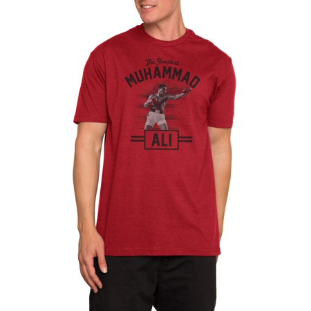 Standing Tall Muhammad Ali Men's Short Sleeve Graphic T-Shirt, up to size (Muhammad Ali Best Knockouts Ever)