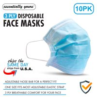 10 Pcs Disposable Breathable 3-Layer Ear Loop Face Masks 10-Pack