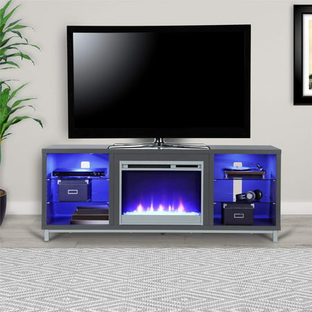 lumina fireplace tv stand for tvs up to 70 wide multiple colors. Black Bedroom Furniture Sets. Home Design Ideas