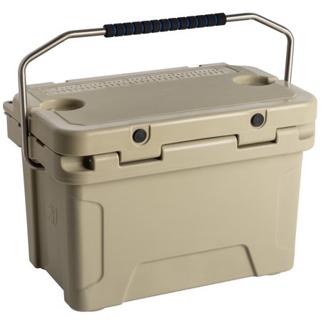 Dark Ice Quartz Crystal (20 Qt. Rotomolded Extreme Outdoor Cooler Ice Chest Tan Built-In Cup)