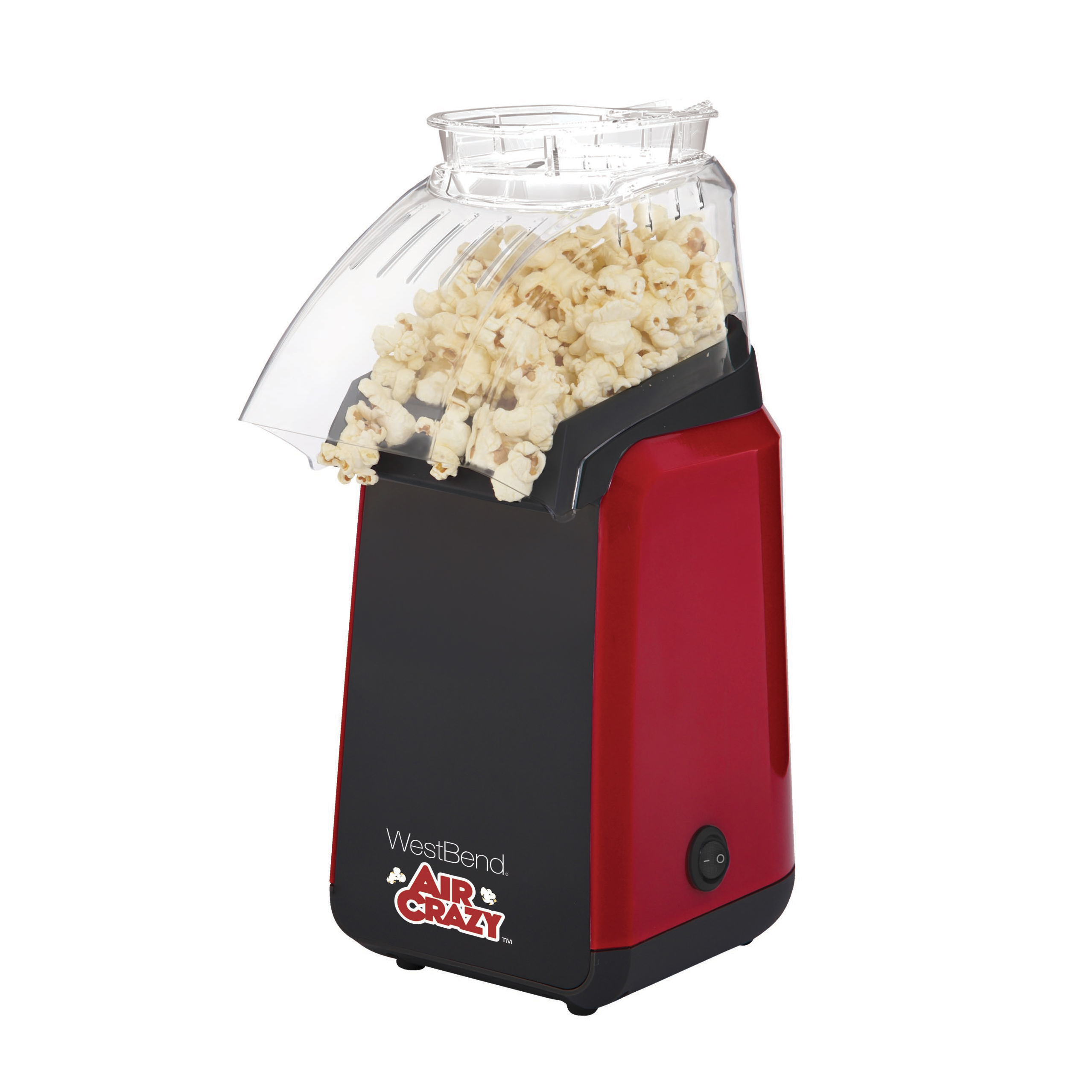 West Bend 82418r Air Crazy 4 Quart Hot Air Popcorn Popper Red