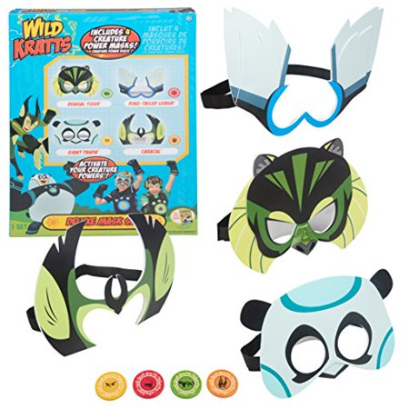 Wild Kratts Toys Power Suit Masks - Set of 4 with Creature Power Discs