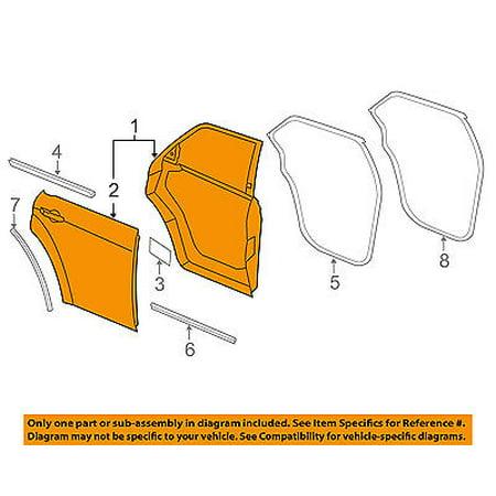 Dodge CHRYSLER OEM 11-16 Charger Rear Door-Shell Frame Panel Right 68089372AE