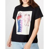 COTTON ON Curve 'Mean Girls' Crewneck T-Shirt