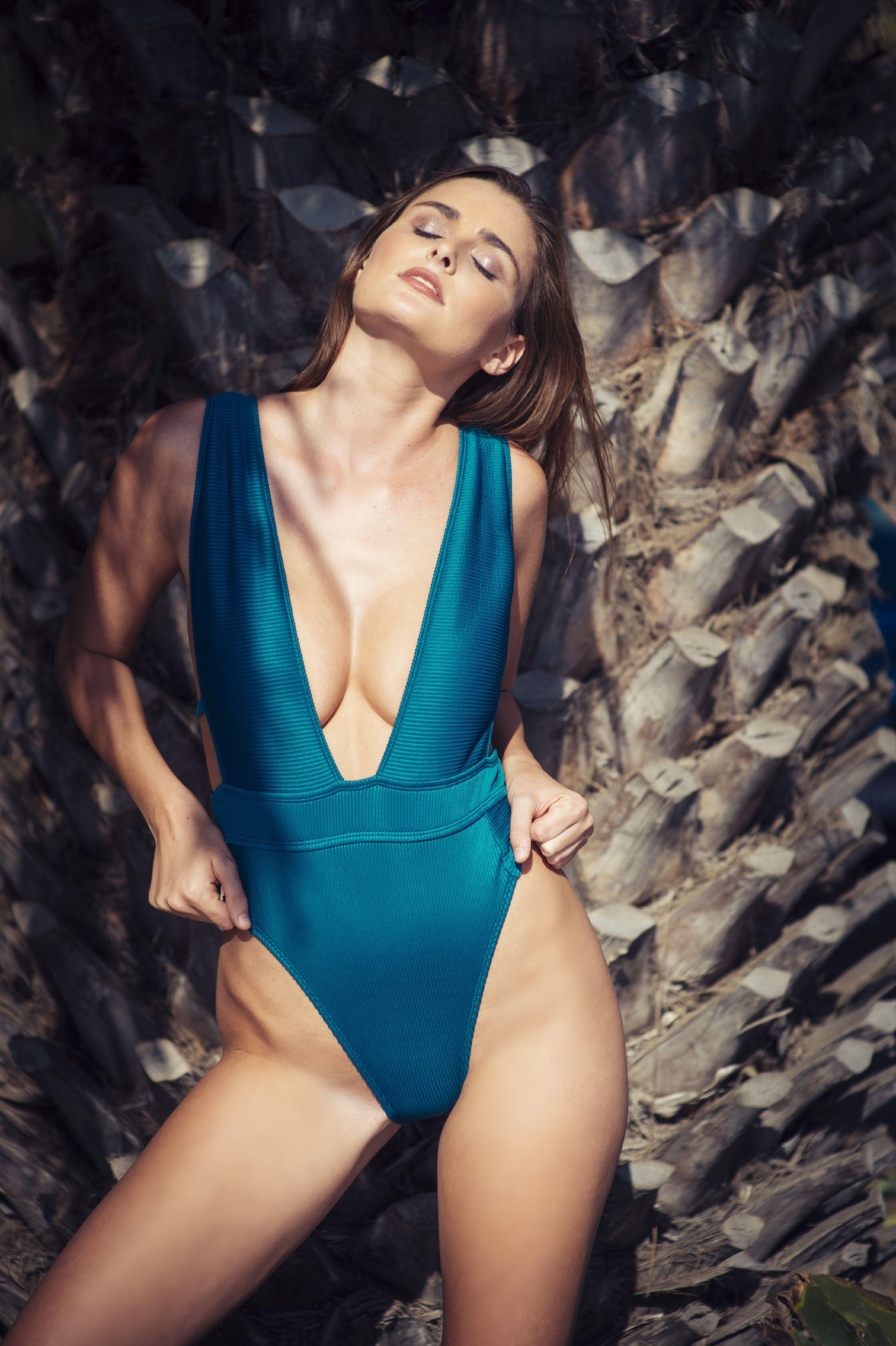 b98a1f0d420 Bikini Lab - Bikini Lab Juniors Rib Thym Nation Plunge One Piece Swimsuit -  Walmart.com