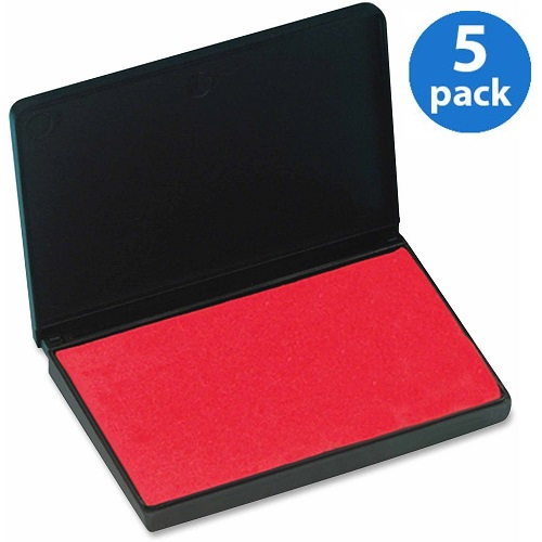 (5 Pack) CLI, LEO92430, Stamp Pad, 1 Each, Red
