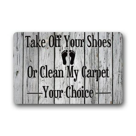 WinHome Take off your shoes Doormat Floor Mats Rugs Outdoors/Indoor Doormat Size 30x18 inches