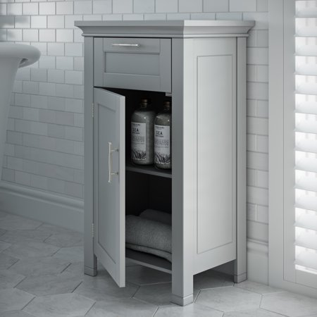 River Ridge Collection (RiverRidge Somerset Collection - Single Door Floor Cabinet - Gray)