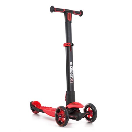 Yvolution Glider Deluxe Adjustable 3 Wheeled Scooter XL Kids Age 3 to 8,