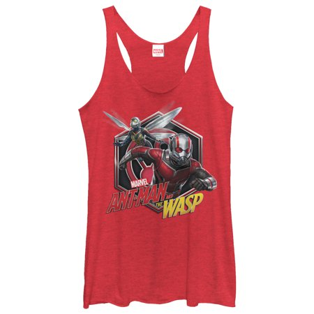 Marvel Women's Ant-Man and the Wasp Hexagon Racerback Tank Top - Villain Suit