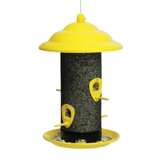 Belle Fleur Sedona Screen Bird Feeder with 4 Feeding Ports, 2.6 lb Seed Capacity