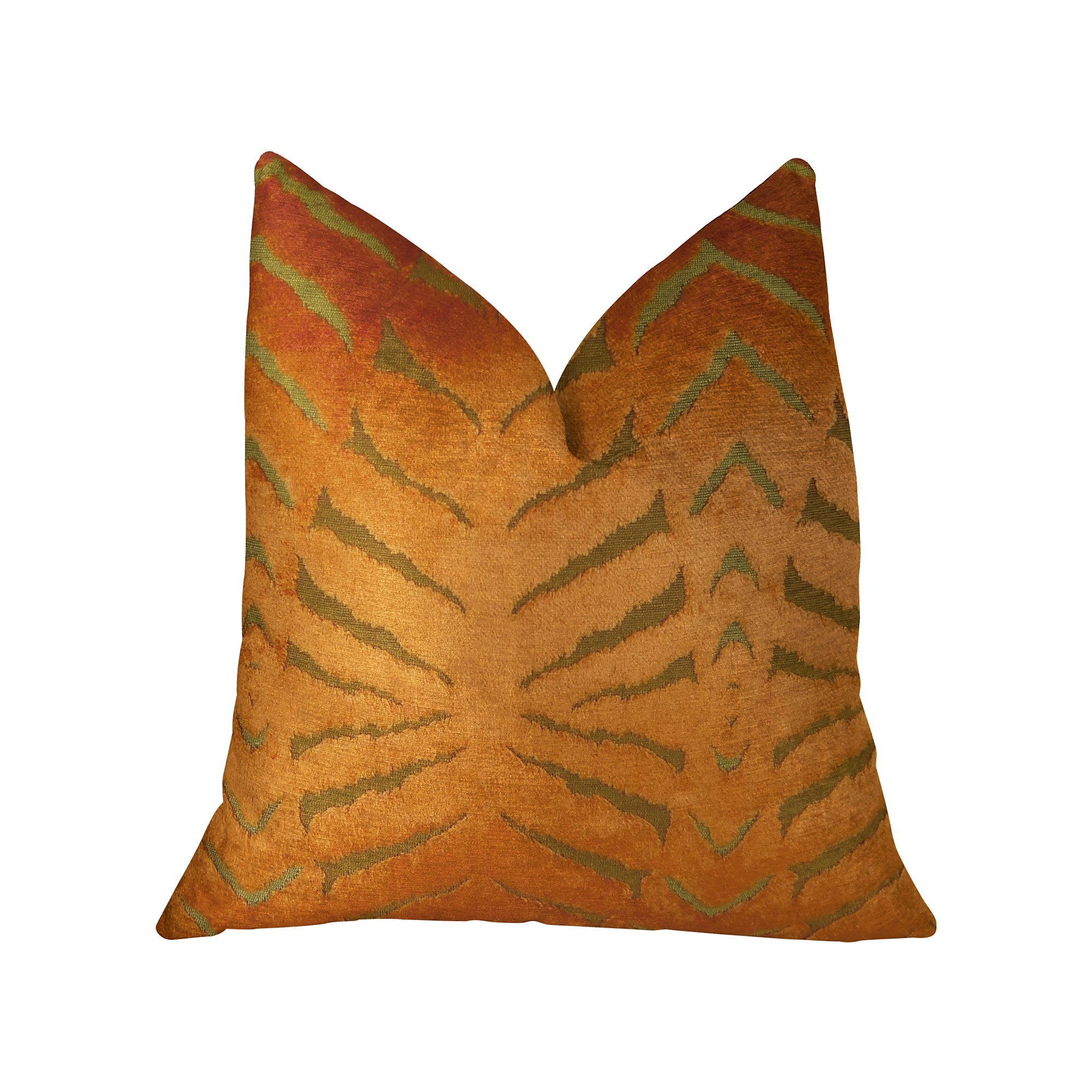 Plutus Tangerine Bliss Orange Handmade Luxury Pillow