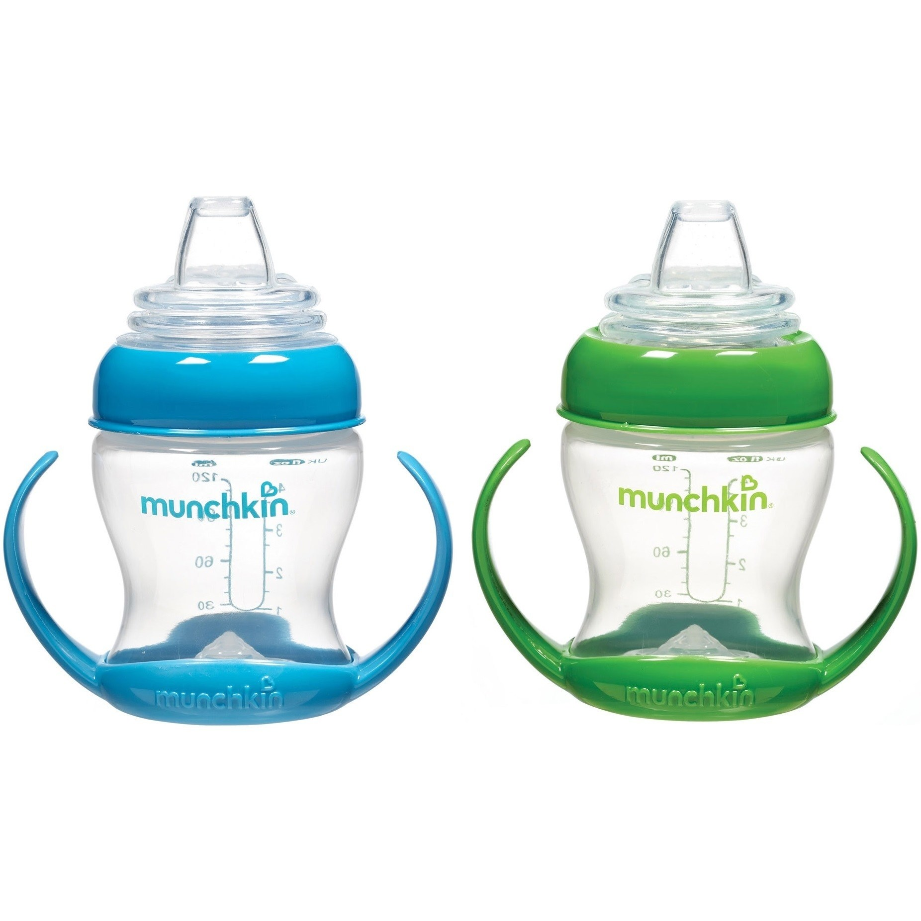 Munchkin Flexi-Transition Trainer Cup 4 Ounce Blue Green 2 Pack by Munchkin