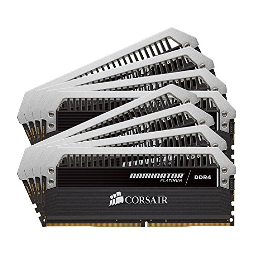 Corsair Dominator Platinum Series 64GB DDR4 DRAM 2666MHz C15 Memory Kit CMD64GX4M8A2666C15