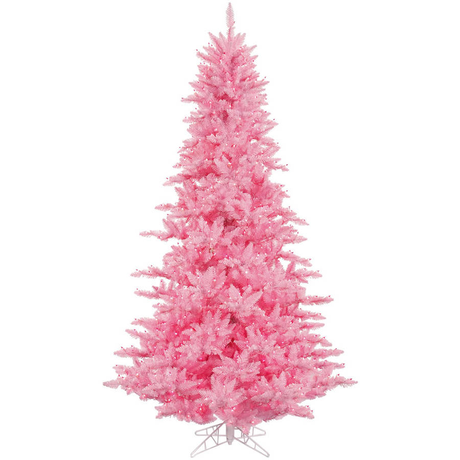Pink And White Christmas Tree: Vickerman 3' Pink Fir Artificial Christmas Tree With 100