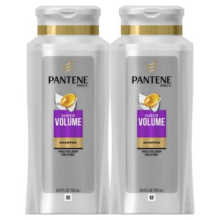 Pantene Pro-V Sheer Volume Shampoo, 25.4 fl oz (Pack of