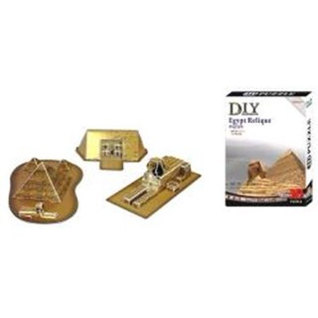 Egyptian Pyramids 3d - 3d Egyptian Relic Pyramid, Sphinx And Pharos Tomb Model Kit