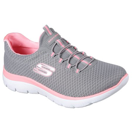 Women's Skechers Summits Gray-Pink 12980/GYPK with Memory Foam