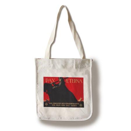 Pax Tail Bag - Pax Aeterna Vintage Poster (artist: Gipkens) Germany c. 1917 (100% Cotton Tote Bag - Reusable)