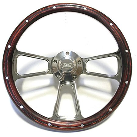 Ford Bronco Manual Steering (1970 -1977 Ford F100 F150 F250 F350 & Bronco Wood and Chrome Steering Wheel)