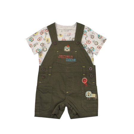 Jungle King Shortall and Tee, 2pc Outfit Set (Baby Boys)