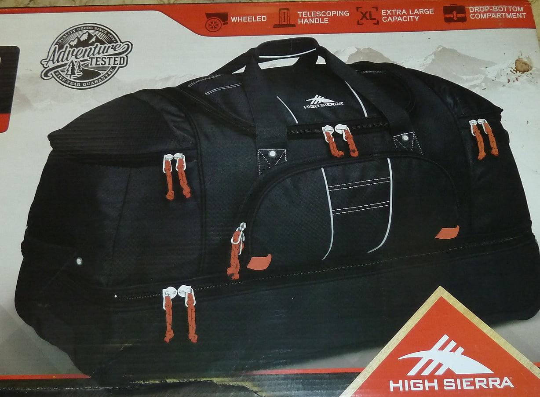 "High Sierra 30"" Drop-bottom Wheeled Duffel Bag Black red by"
