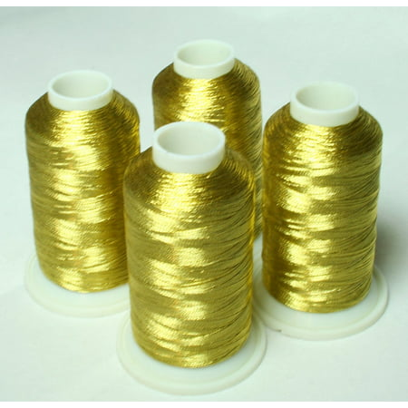 New ThreadNanny 4 ANTIQUE GOLD METALLIC MACHINE EMBROIDERY THREAD CONES ()