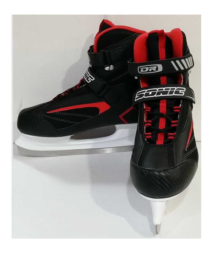 DR Sports Men's Softboot Ice Hockey Skate Black Red, Size 10 by DR Sports