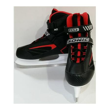 DR Sports Men's Softboot Ice Hockey Skate Black/Red, Size 9 (Custom Ice Hockey Skates)