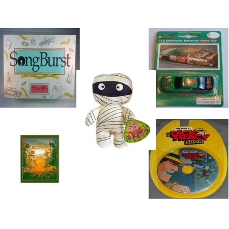 Children's Gift Bundle [5 Piece] -  Songburst 50's and 60's Edition  - Shell #18 Interstate Batteries Bobby Labonte Die Cast  Stock Car  - Sugarloaf Kelly s Mummy Doll  11