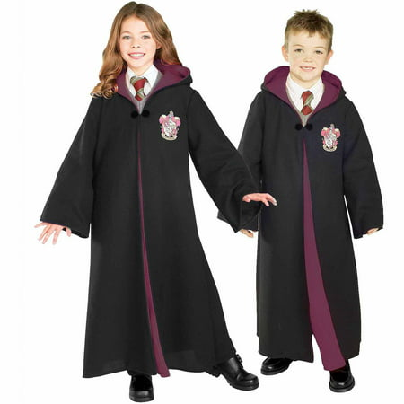 Harry Potter Deluxe Gryffindor Robe Child Halloween Costume (Halloween Costumes Black Dress)