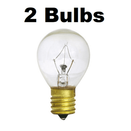 2 x 25W Lava Lamp Light Bulb S Type E17 Base 25 Watt S11, 25S11, 25S11N, S11N25 ()