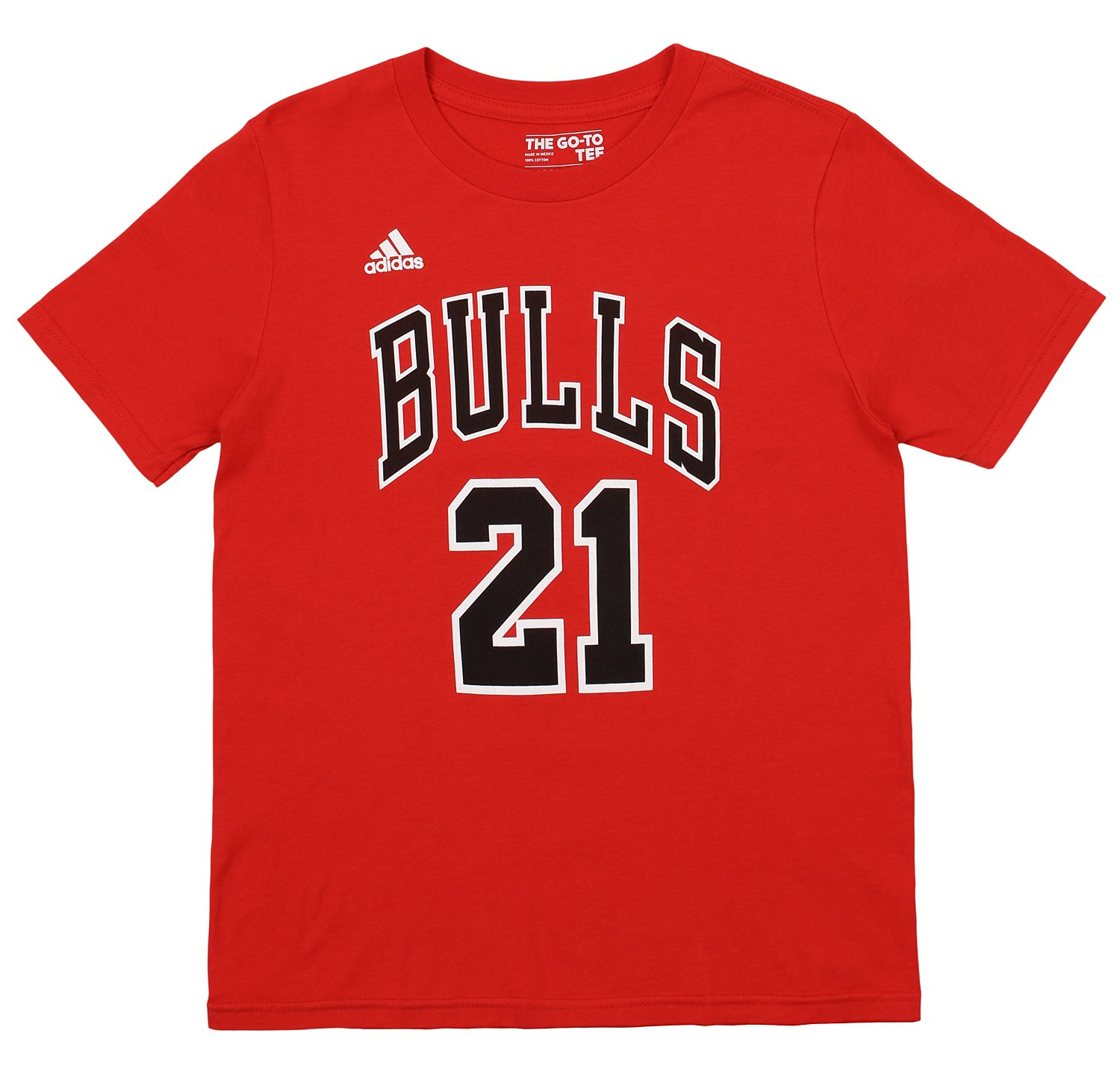 Adidas NBA Youth Chicago Bulls Jimmy Butler #21 Player's Tee Shirt, Red