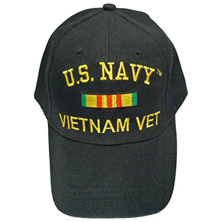 US Navy Vietnam Vet Cap Black United States War Veteran Hat Mens
