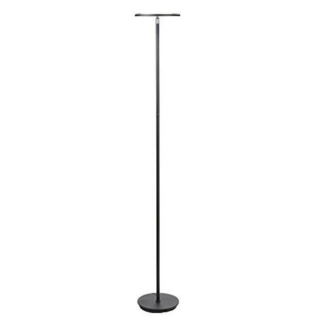 Brightech Sky LED Torchiere Super Bright Floor Lamp - Tall Standing Modern Pole Light for Living Rooms & Offices - Dimmable Uplight for Reading Books In your Bedroom etc - (Marina Table Torchiere)