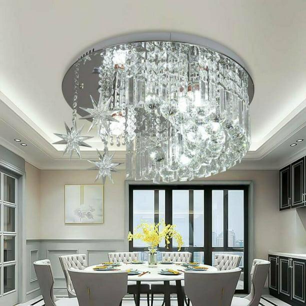 Datingday New K9 Crystal Moon Star, Bathroom Chandelier Lamp