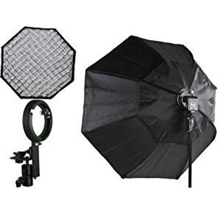 "Off Camera Flash Octagon Softbox 37"" Octagon Soft box Studio Photography Honeycomb Grid Softbox with Flash Mounting for Nikon Canon Flashes"