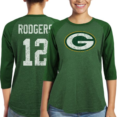 Aaron Rodgers Green Bay Packers Majestic Women