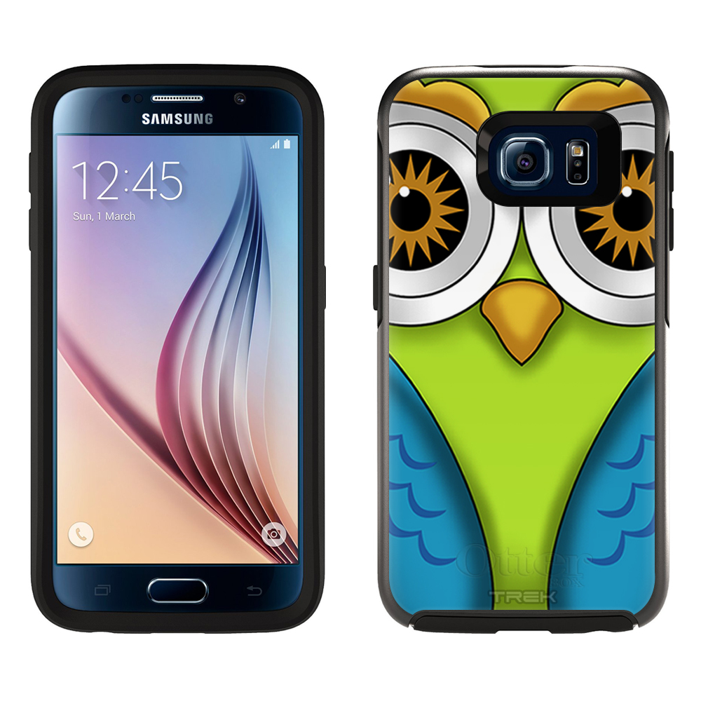 SKIN DECAL FOR OtterBox Symmetry Samsung Galaxy S6 Case - Owl DECAL, NOT A CASE
