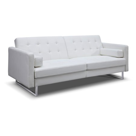 Sensational Whiteline Giovanni Faux Leather Convertible Sofa Bed Pdpeps Interior Chair Design Pdpepsorg
