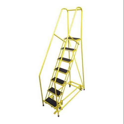 COTTERMAN 1007R1824A3E10B4C2P6 Rolling Ladder,Steel,100In. H.,Yellow G0995989